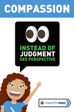 Instead Of Judgment, See Perspective -  Let's Chat Conversation Card