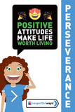 Positive Attitudes Make Life Worth Living -  Let's Chat Conversation Card