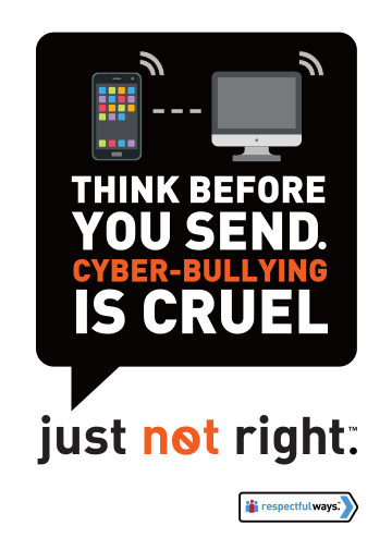 Think Before You Send – Cyberbullying Is Cruel -  Removable Vinyl