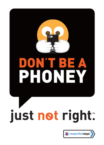 Don't Be A Phoney -  Removable Vinyl