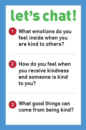 Be Kind – It Feels Good -  Let's Chat Conversation Card