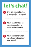 Teamwork Makes The Dream Work -  Let's Chat Conversation Card