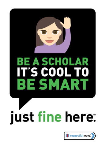 Be A Scholar – It's Cool To Be Smart! -  Removable Vinyl