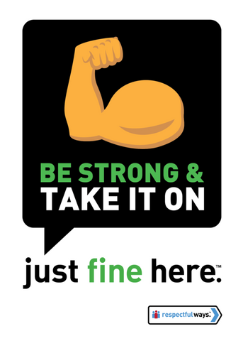 Be Strong And Take It On! -  Removable Vinyl