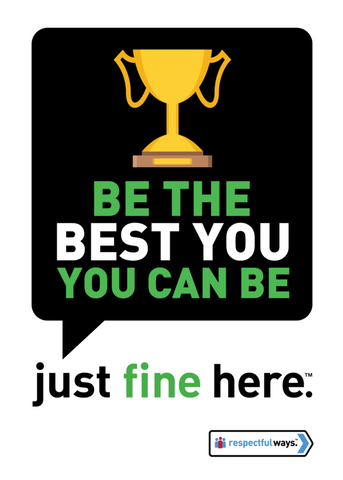 Be The Best *You* You Can Be -  Removable Vinyl