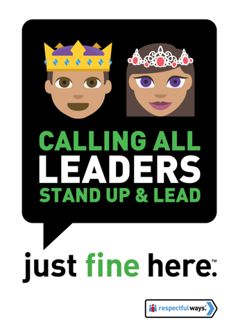 Calling All Leaders - Stand Up And Lead! -  Removable Vinyl