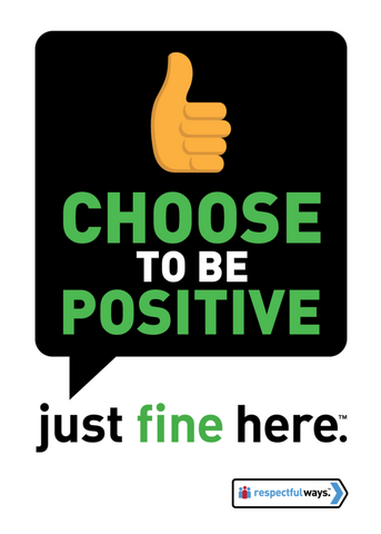 Choose To Be Positive -  Removable Vinyl