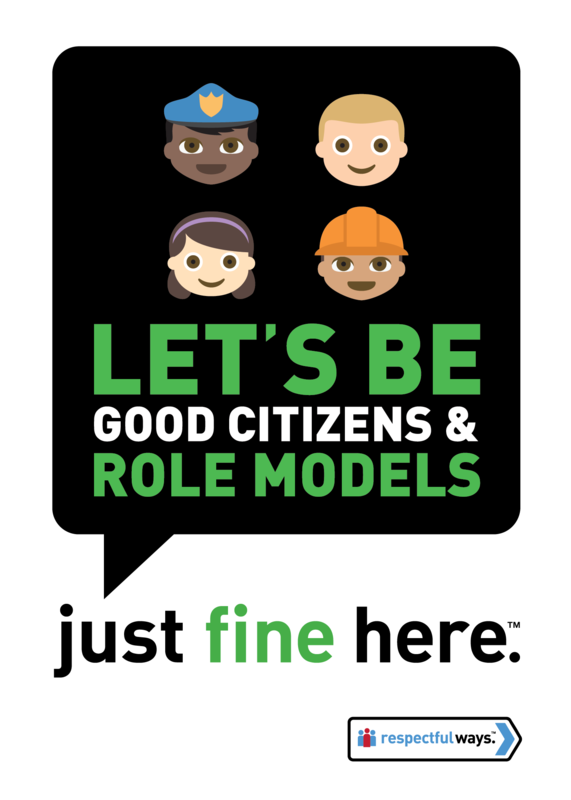 Let's Be Good Citizens And Role Models -  Removable Vinyl
