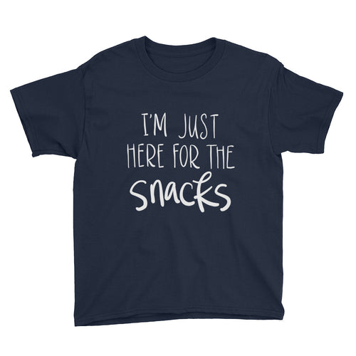 Boys' I'm Just Here For The Snacks Tee (4 Colors Available)