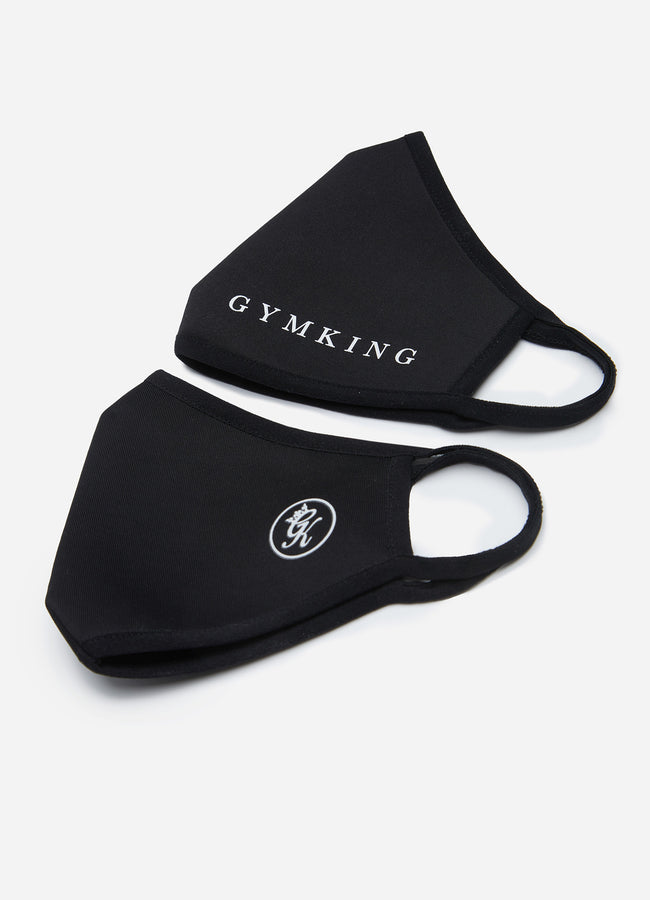 Gym King Nano Face Mask (2pk) - Black