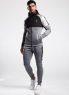 Gym King Adapt Reflective Tracksuit Top - Charcoal Marl/Black