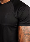 Gym King Adapt Poly Tee - Black