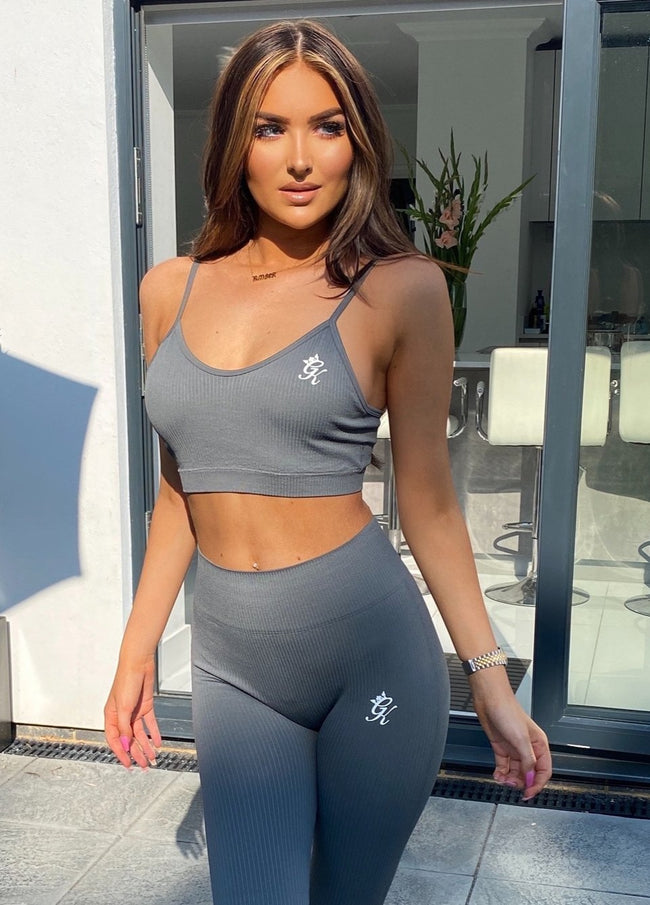 Gym King Sport Seamless Rib Bra - Dark Grey