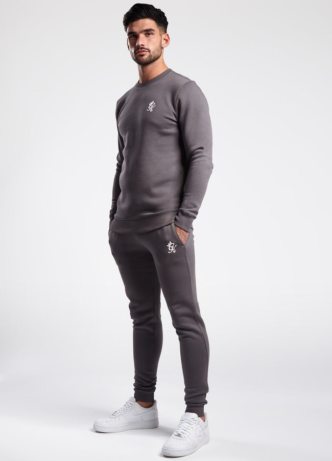 Gym King Basis Crew Neck Sweatshirt - Dark Grey