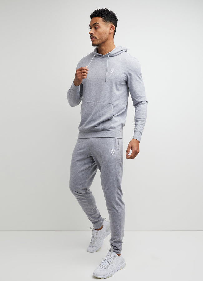 Gym King Lightweight Lounge Overhead Hoodie - Grey Marl