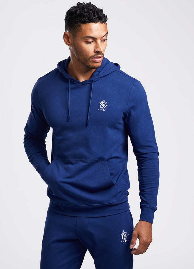 Gym King Lightweight Lounge Overhead Hoodie - Blue Depths