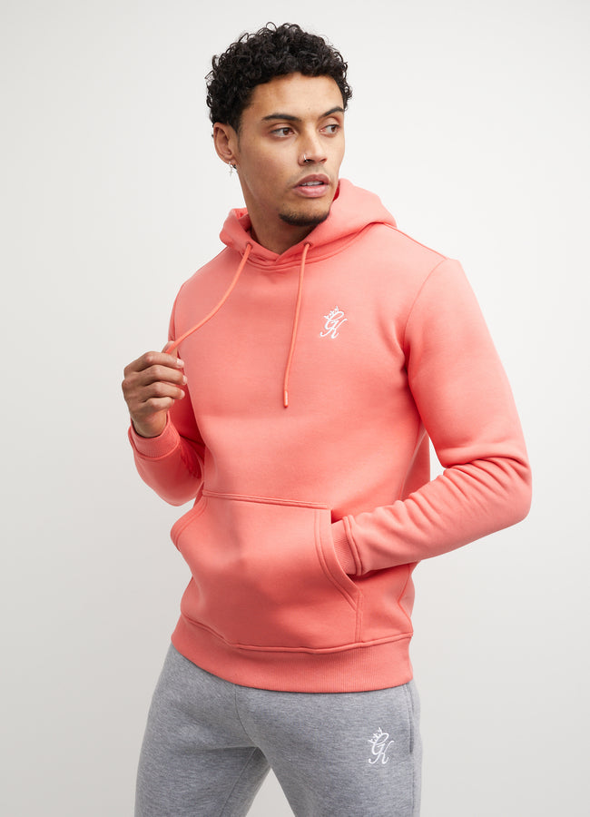 Gym King Basis Overhead Hoodie - Coral