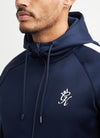 Gym King Basis Poly Tracksuit Top - Navy/White
