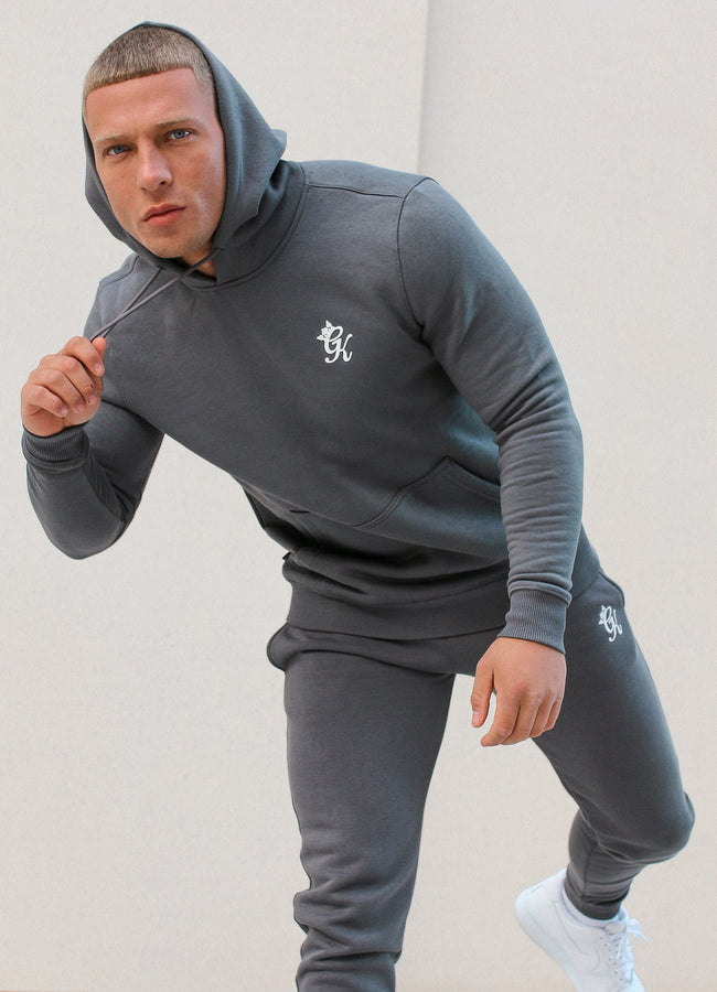 Gym King Basis Overhead Hoodie - Dark Grey