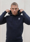 Gym King Basis Overhead Hoodie - Navy/White