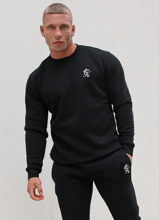 Gym King Basis Crew Neck Sweatshirt - Black