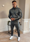 Gym King Basis Poly Tracksuit Bottoms - Dark Grey/Black