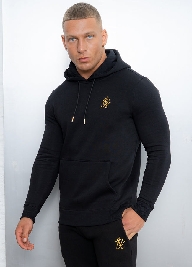 Gym King Basis Overhead Hoodie - Black/Gold