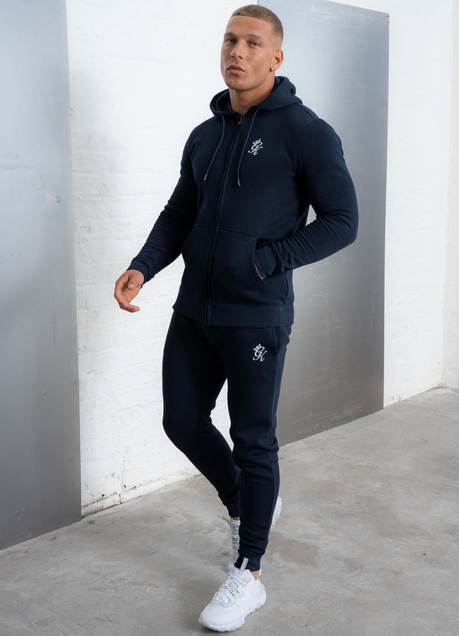 Gym King Basis Jogger - Navy/White