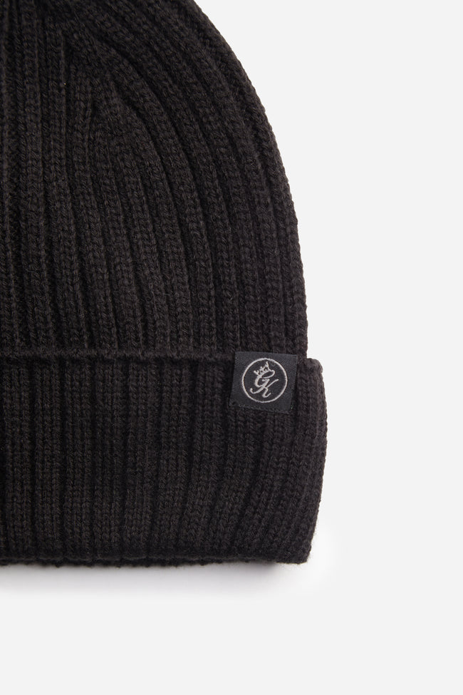 Gym King Channing Rib Beanie - Black
