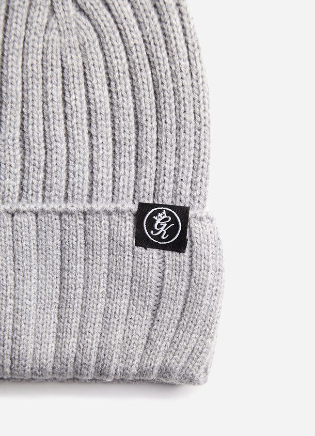 Gym King Channing Rib Beanie - Grey Marl
