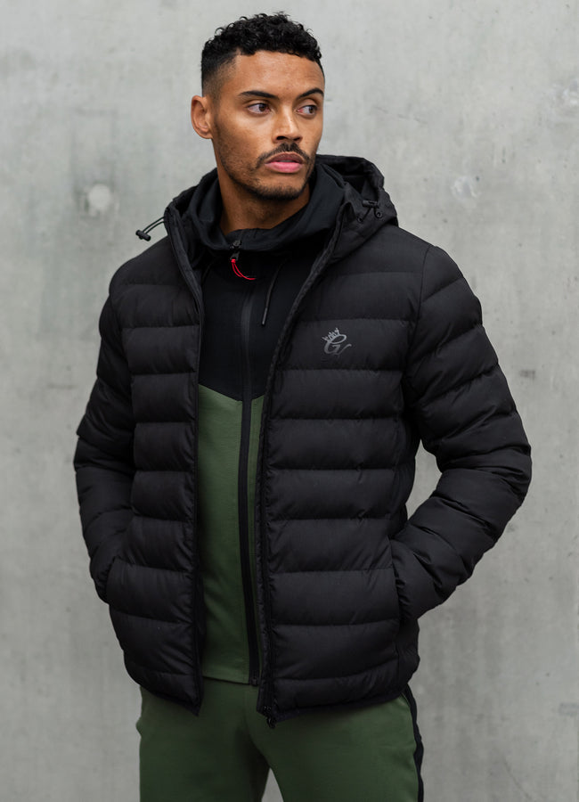 Gym King Core Puffa Jacket - Black