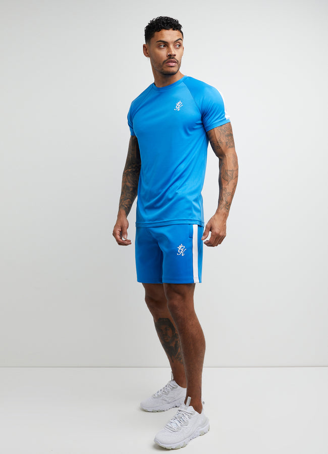 Gym King Core Plus Poly Tee - French Blue