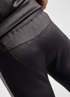 Gym King Core Plus Poly Tracksuit Bottoms - Black Marl/Charcoal Marl