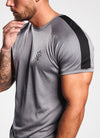 Gym King Core Plus Poly Tee - Charcoal Marl