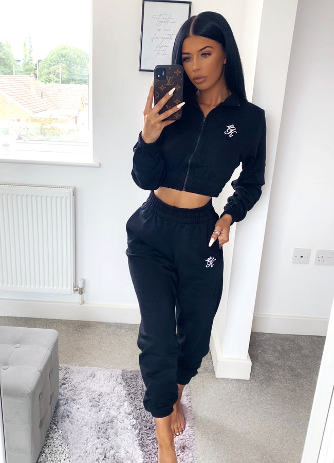 Gym King Boyfriend Jogger - Black