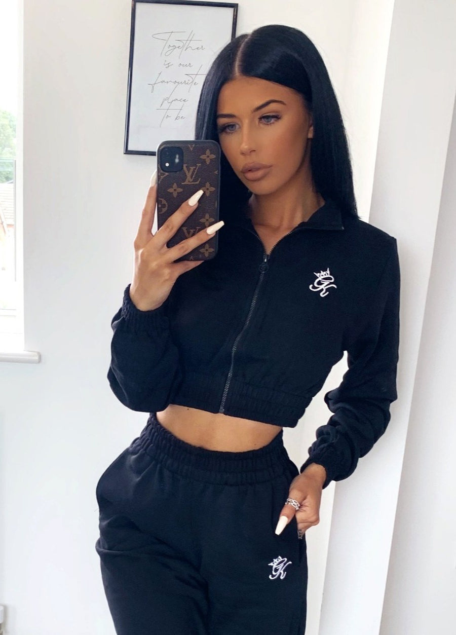 Gym King Cropped Funnel - Black