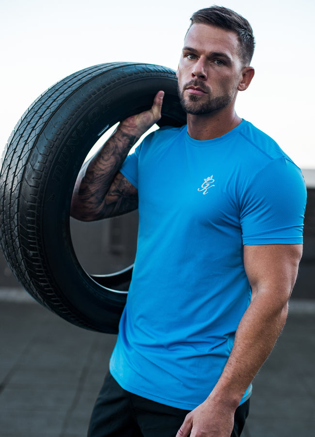 Gym King Sport Energy Tee - French Blue