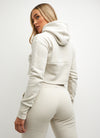 Gym King Sky Script Hooded Crop - Natural