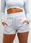 Gym King Script Short - Powder Blue
