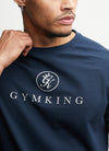 Gym King Sport Logo Tee - Navy