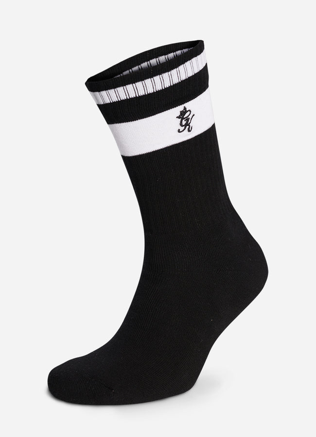 Gym King Ryu Socks (2pk) - Black