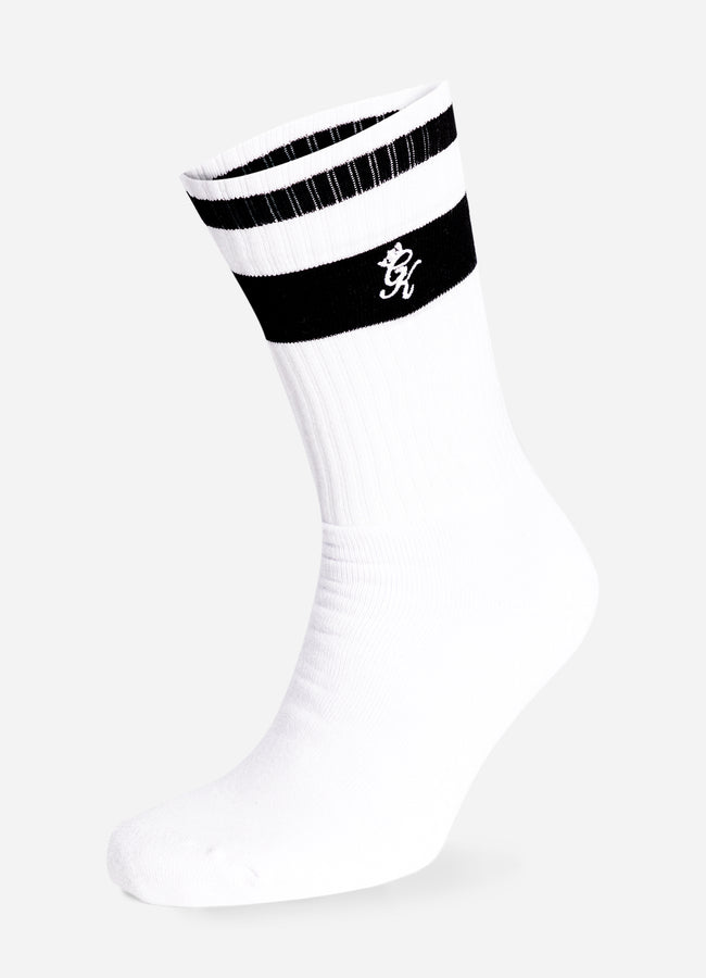 Gym King Ryu Socks (2pk) - White