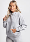 Gym King Graphic Boyfriend Hoodie - Grey Marl