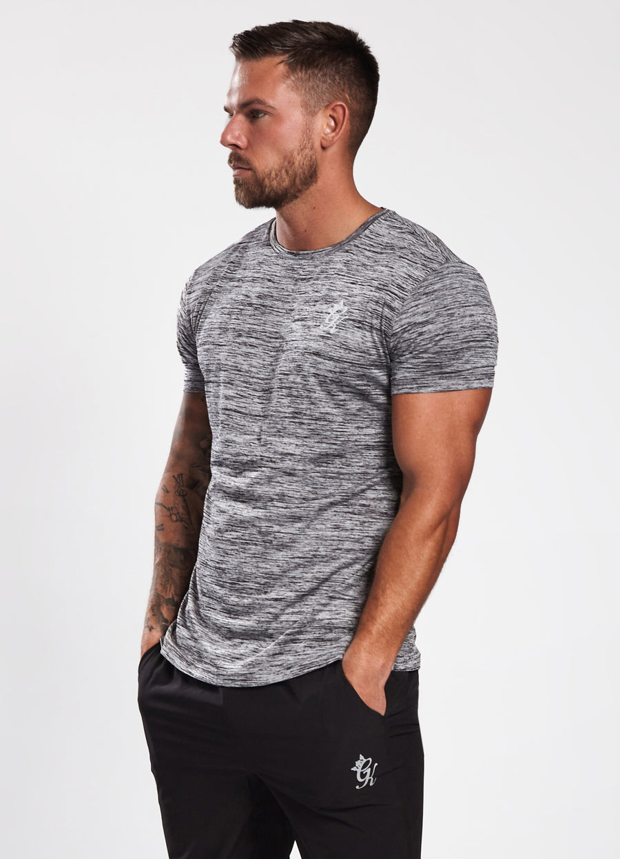 Gym King Sport Grindle Tee - Grey Marl