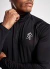 Gym King Sport Race 1/4 Zip Funnel Neck - Black