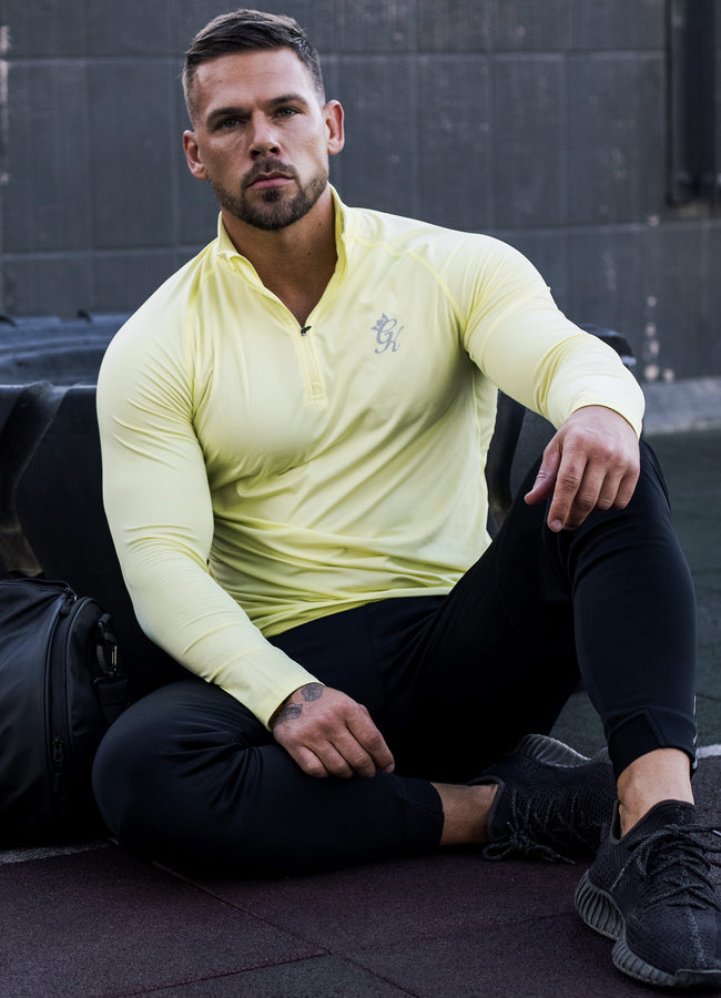 Gym King Sport Race 1/4 Zip Funnel - Limelight