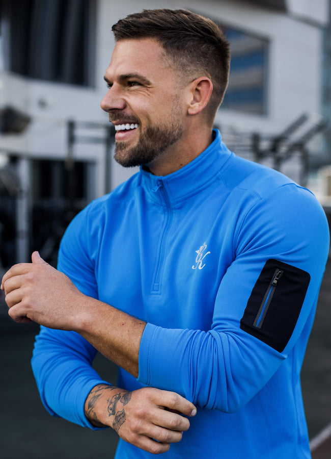 Gym King Sport Velocity 1/4 Zip Funnel - French Blue
