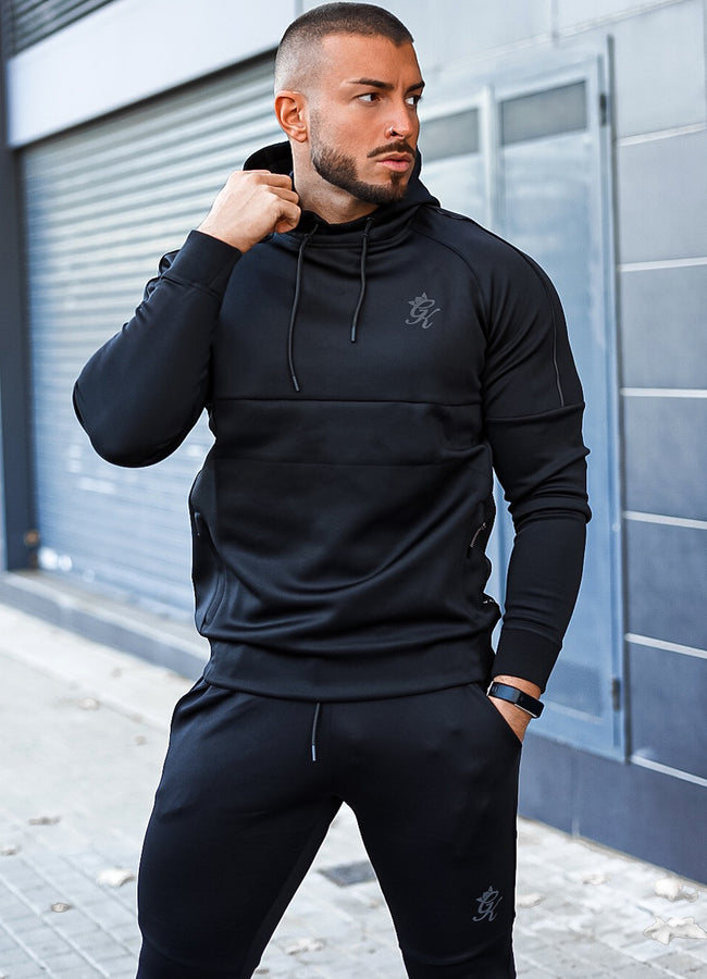 Gym King Adapt Reflective Overhead Hoodie - Black