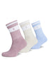 Gym King Ryu Socks (3pk) - Oatmeal/Dusky Pink/Blue