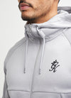 Gym King Lombardi Poly Tracksuit Top - Grey Marl